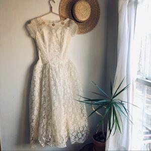 1940's True Vintage handmade lace wedding dress
